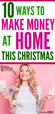 How to make money at home this Christmas holiday season as a stay at home mom in legit and real ways! If you want extra money to spend this time of year, then you need to check out all of these extra ways to earn more at home without leaving the house or getting a full time job.