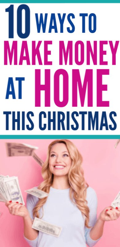 Easy ways to make money from home this Christmas holiday season that are perfect for busy moms looking to make some extra cash money this season. Easy ways to earn at home for a side hustle, part time or full time.