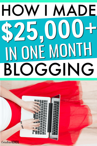 Find out exactly what it takes to make $25,000+ working at home as a busy mom by blogging. Making money at home as a blogger is a great way for busy moms to make money at home. Learn tips and tricks to see how a pro blogger makes a full time income and how you can start blogging for yourself today! #blogging #startablog #blog #blogger #makemoney