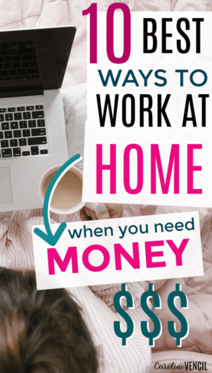 Easy ways for moms to make money from home that are easy and simple and totally legit. Find out how to work at home and make real money some even are full-time or part-time ways to earn money online when you're busy. Side jobs or side hustles that can be full time work at home jobs.