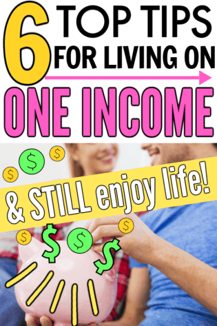 The best tips for living on one income from a frugal money saving pro. These tips, tricks and ideas are great for people who are looking to live on one income or trying to start to live on one income. Great help to start living frugally and to stop living paycheck to paycheck for beginners and new budgeters.