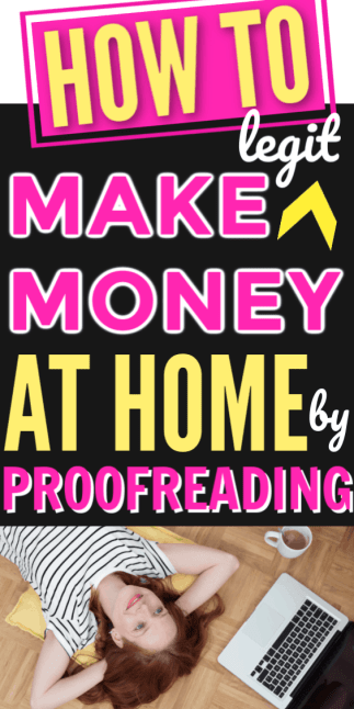 How to Make Money  Working From Home as a Proofreader. Making money at home as a busy mom by proofreading. Easy way to start proofreading as a full time job for beginners to make extra money with kids. Work full time or part time at home being your own boss and quit your job.