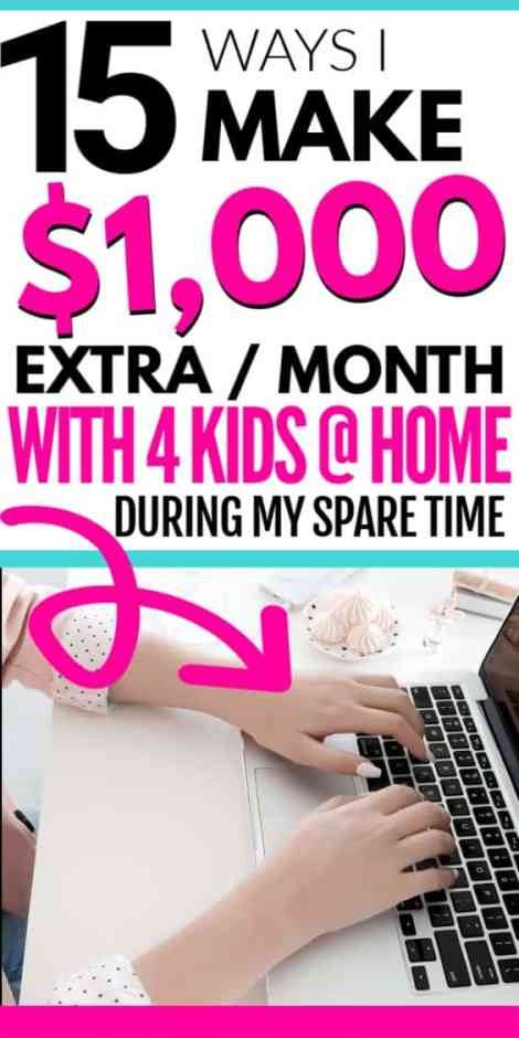 How I Make $1000 from Home as Busy Mom During My Spare Time. How to work from home and be your own boss while making money as a mom. Legitimate work from home mom jobs for beginners to make extra money to start today.