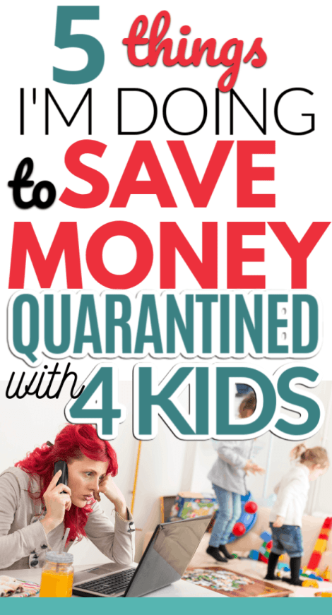 What do you do with a bunch of kids when you're trapped inside with little kids while quarantined inside? Still want to stay on budget without leaving the house if you're sick or want to avoid spreading germs and need to stretch the budget? Check out how I plan to stay quarantined with 4 kids on a budget.