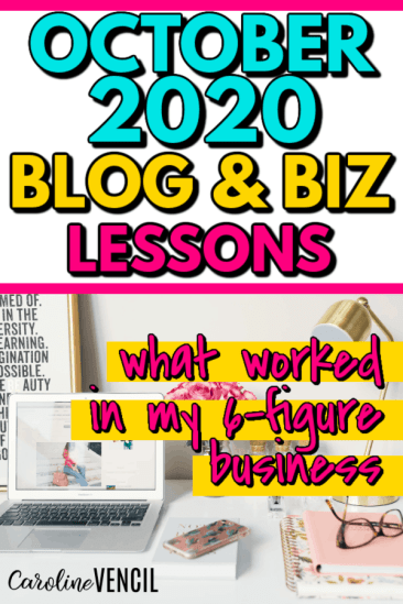 October 2020 Blogging and business lessons for online entrepreneurs and business owners