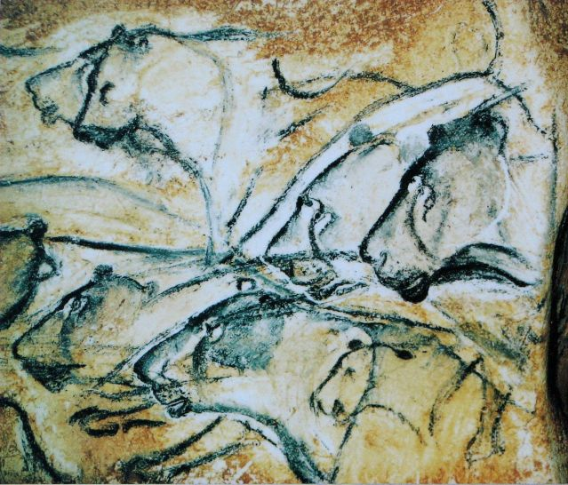 Lions_painting_Chauvet_Cave_museum_replica Author's Blog But First Coffee