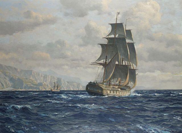800px-Michael_Zeno_Diemer_-_A_frigate_off_the_coast_near_Rio_de_Janeiro_Brazil Highlighting Historical Romance