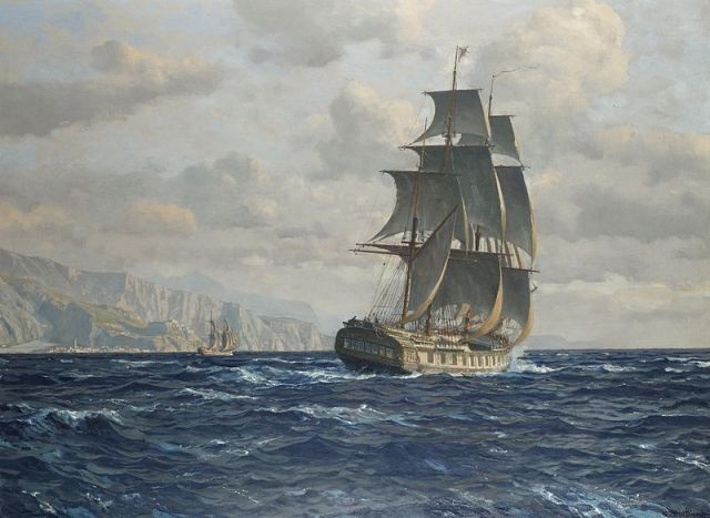 800px-Michael_Zeno_Diemer_-_A_frigate_off_the_coast_near_Rio_de_Janeiro_Brazil Highlighting Historical Romance
