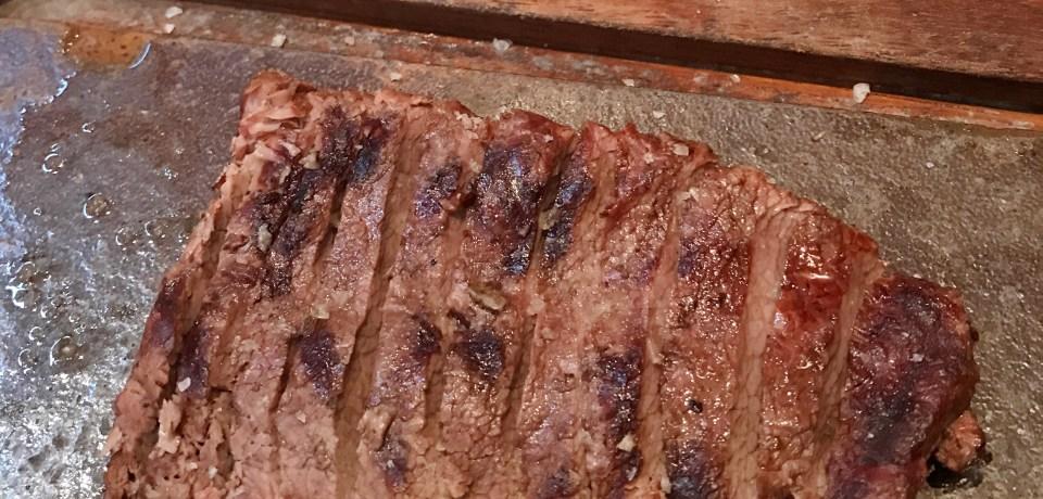 Londres: Comendo carne no Flat Iron