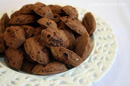 165. Madeleines de Chocolate com Laranja