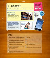 Visual Design for iheard.org