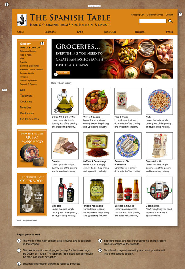 Visual Design for grocery.html