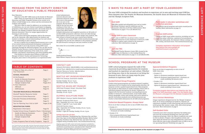 SAM School & Teacher Programs, page 1-2