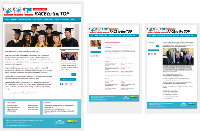 Roadmap Race to the Top webpages