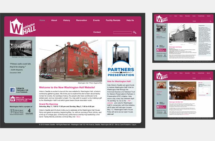 Washington Hall website