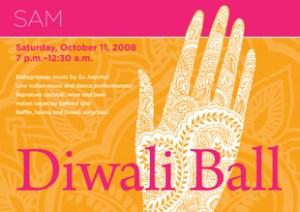 Diwali Ball postcard