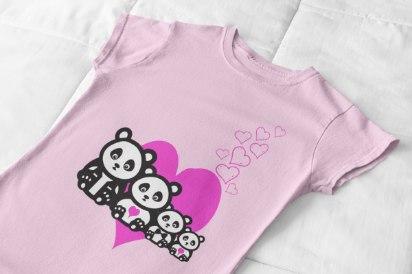 For the Love of Pandas - a simple design available on amazon.