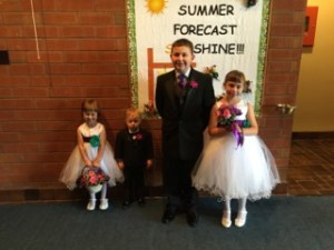 My children minutes before my niece's wedding.