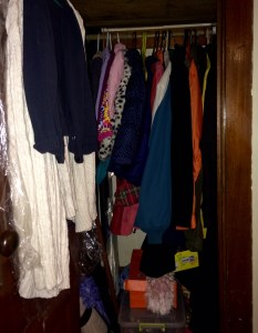 Orderly coat closet