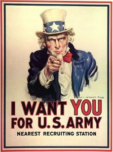 Uncle Sam Army Reccruitment Poster