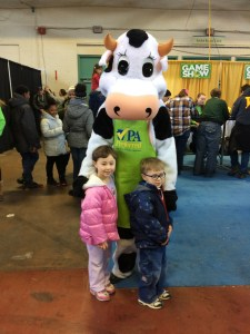 kids and a cow