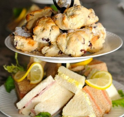 Donna's Blueberry Scones with Lemon Curd