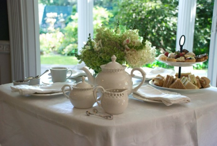 afternoon tea table at the DCA Darien Ct