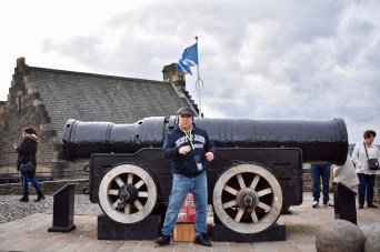 Mons Meg Medieval cannon from 1449, love the guy with the Scotland sweatshirt!