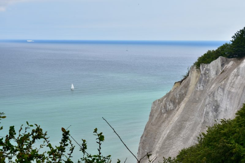 At the top of the cliff at Mons Klint