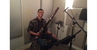 Joshua Butcher, playing bassoon for My First Symphony