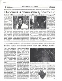 Carolyn in Rome and Frascati Italy newspapers