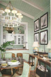 Seafoam White Beach Living Room - Modern home design ideas