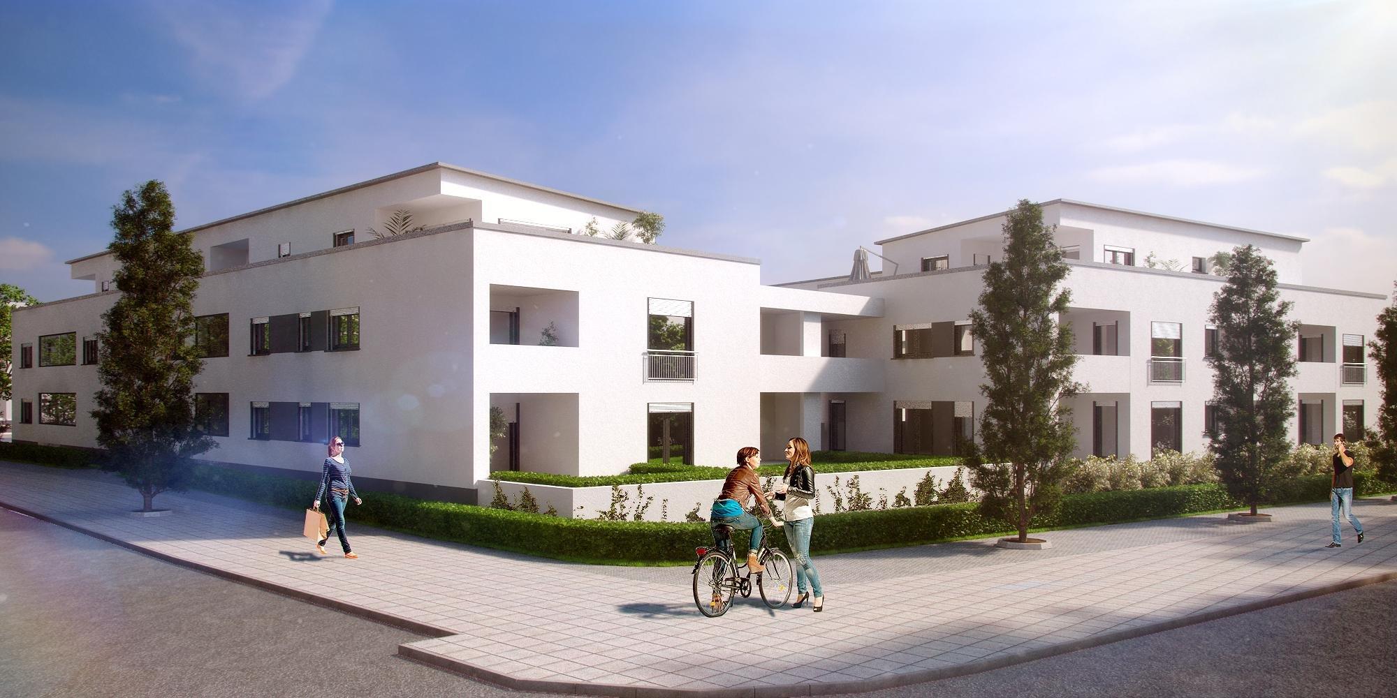 Planung eines modernen Gebäudekomplex