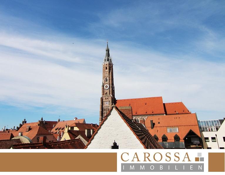 Blick auf die Martinskirche Landshut
