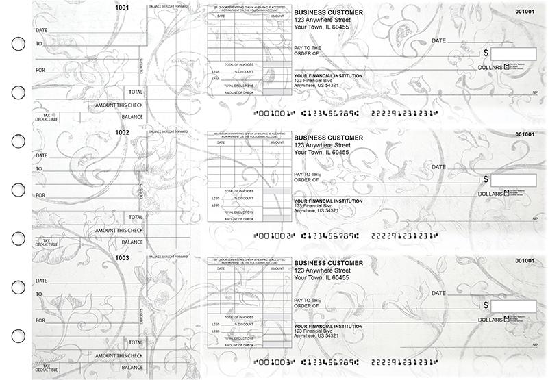 Vintage Standard Itemized Invoice Business Checks
