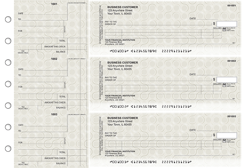 Circuit Itemized Counter Signature Business Checks