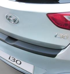 hyundai i30 gd 2012 2016 5 door hatchback rear bumper protector abs hyu10i3bp  [ 1500 x 1000 Pixel ]