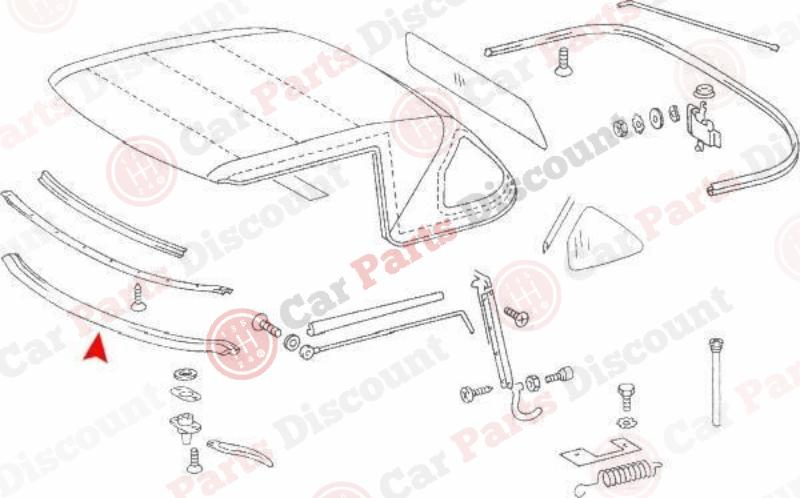Mercedes-Benz 560SL Convertible / Hard Top Seal URO 1077790022