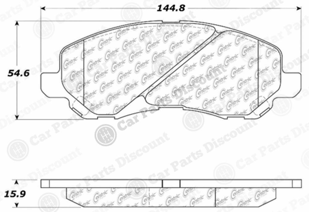 Centric 102.08660/10208660 Disc Brake Pad Set