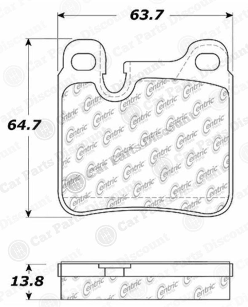 Centric 100.04650/10004650 Disc Brake Pad Set