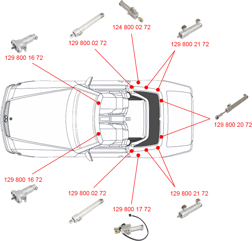 hydraulic ram diagram honeywell chronotherm iv plus wiring hydrolic great installation of genuine oem 1298001772 convertible top cylinder enerpac rams set rescue