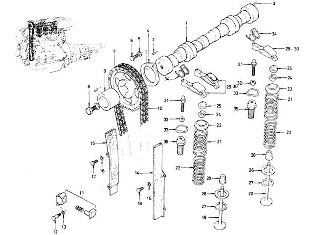 Datsun Bluebird 510 Camshaft & Valve Mechanism