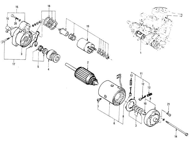Motor Parts: Hitachi Starter Motor Parts