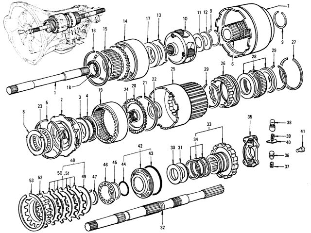 Datsun 510 Transmission Gear (Automatic 3N71B)