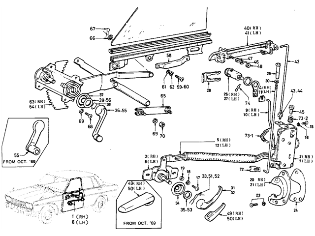 Datsun 510 Parts Illustration No 109 1 Dash Panel Wagon