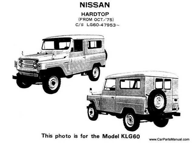 Nissan Patrol 60 Model Photos
