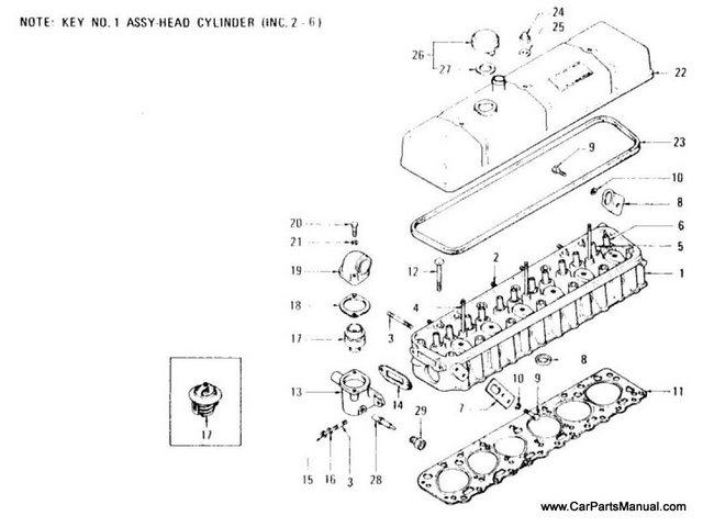 Nissan Patrol 60 Cylinder Head, Thermostat & Rocker Cover