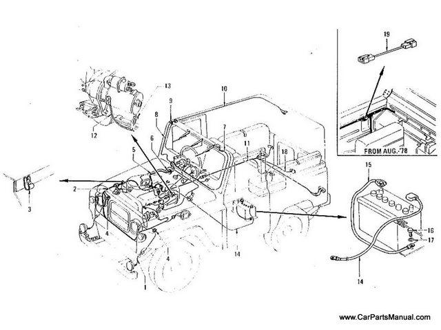 Nissan Patrol 60 Wiring (From Jun.-'77)