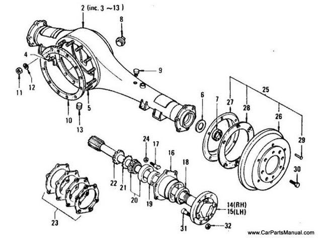 Nissan Patrol 60 Rear Axle (Housing & Axle Shaft Heavy