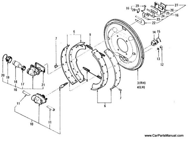 Nissan Patrol 60 Rear Brake & Wheel Cylinder